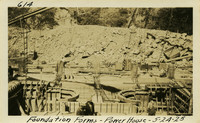 Lower Baker River dam construction 1925-05-24 Foundation Forms Power House