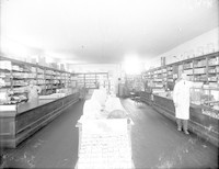 Interior view of grocery/dry goods store