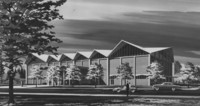 1960 Carver Gym: Architect's Drawing