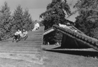 1991 Students on Log Ramps