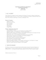 WWU Board of Trustees Minutes: 2013-06-13