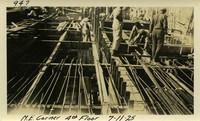 Lower Baker River dam construction 1925-07-11 N.E. Corner 4th Floor