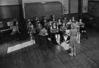 1942 Seventh Grade Class Singing (Class 7-B)
