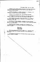 WWU Board minutes 1909 November