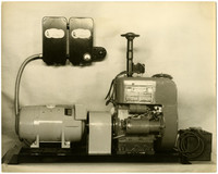 A piece of motorized equipment on display