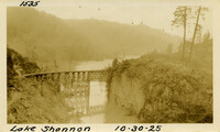Lower Baker River dam construction 1925-10-30 Lake Shannon (with railroad trestle)