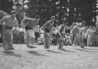1948 Campus Day: Faculty Sack Race