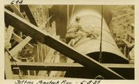 Lower Baker River dam construction 1925-06-08 Setting Penstock Pipe