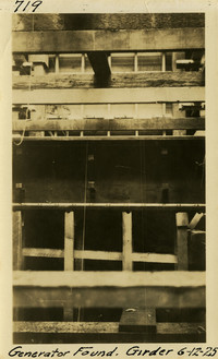 Lower Baker River dam construction 1925-06-12 Generator Found. Girder