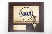 Soccer (Men's) Plaque: NAIA District 1 Champions, 1990