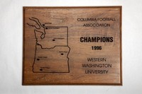 Football Plaque: Columbia Football Association Champions, 1996
