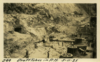 Lower Baker River dam construction 1925-05-11 Draft Tubes in P.H.