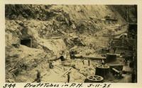 Lower Baker River dam construction 1925-05-11 Draft Tubes in P.H.