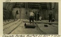 Lower Baker River dam construction 1925-07-22 Concrete Surface Run #169 El.3370