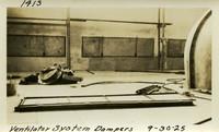Lower Baker River dam construction 1925-09-30 Ventilator System Dampers