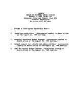 WWU Board minutes 1986 August