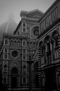 Duomo on a Foggy Morning - Florence, Italy