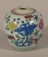 Jarlet with enamel design of flowers and rocks