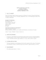 WWU Board of Trustees Minutes: 2017-09-09