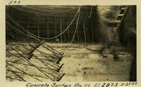 Lower Baker River dam construction 1925-05-21 Concrete Surface Run 110 El.287.3