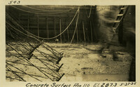 Lower Baker River dam construction 1925-05-21 Concrete Surface Run 110 El.287.3
