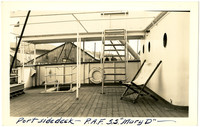 Portside deck with lounge chair on steamship Mary D