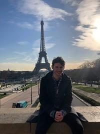 Luke at the Eiffel Tower