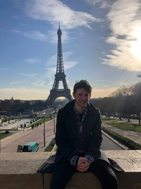 Luke at the Eiffel Tower