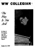Western Washington Collegian - 1959 October 23