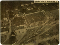 Clipping from Bellingham Herald of aerial photograph of Pacific American Fisheries facility