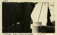 Lower Baker River dam construction 1925-05-31 Interior car #D.L.W.12996