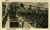 Lower Baker River dam construction 1925-07-19 Roof truss