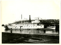 """State of Washington,"" a 175 foot stern-wheeler steamboat"