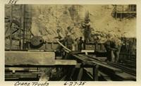 Lower Baker River dam construction 1925-06-27 Crane Trucks