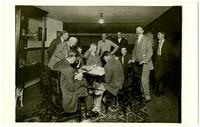 Marathoners signing up for first race, 1911 (Mt. Baker Marathon)