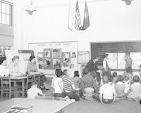 1961 Student Teachers Observing Rene Philippart's First Grade French Lesson