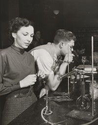1949 Students in Chemistry Laboratory