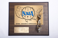 Golf (Men's) Plaque: NAIA District 1 Champions, 1980