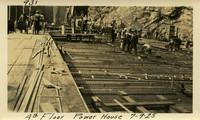 Lower Baker River dam construction 1925-07-09 4th Floor Power House