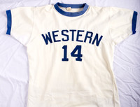 Basketball (Men's) Jersey: #14, Mike Franza, unfolded, 1973