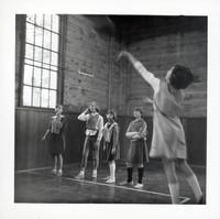 1965 Girls Playing Basketball (Shooting Foul Shot)