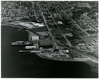 Aerial view of Fairhaven and Bellingham waterfront
