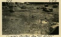 Lower Baker River dam construction 1925-06-18 Concrete Surface Run #137 El.2830