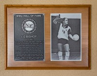 Hall of Fame Plaque: Liz Bishop, Volleyball, Class of 2012