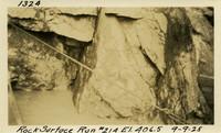 Lower Baker River dam construction 1925-09-09 Rock Surface #214 El.406.5