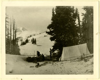 Camping party at Skyline Ridge near Mt. Baker