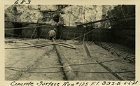 Lower Baker River dam construction 1925-06-06 Concrete Surface Run #125 El.332.5