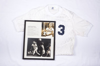 Soccer (Women's) Jersey and Photograph: #3, Annette Duvall, photograph with list of accomplishments, 1982/1984