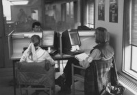 1975 Students in Library: ERIC Readers