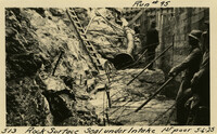 Lower Baker River dam construction 1925-05-06 Rock Surface Seal under Intake 1st Pour